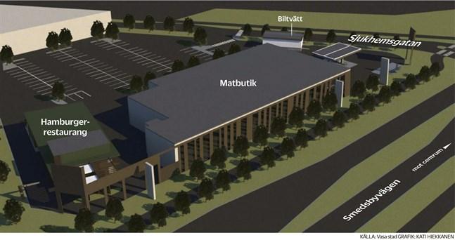 Så här är det tänkt att de nya byggnaderna på tomten kan se ut.