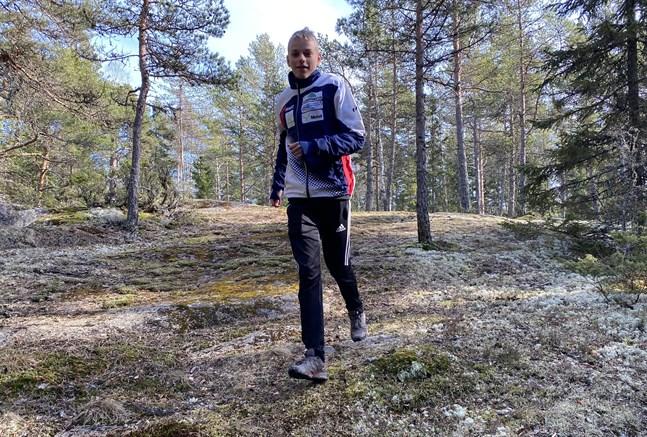 Kasper Bergström är en lovande orienterare som satsar hårt mot större mästerskap.