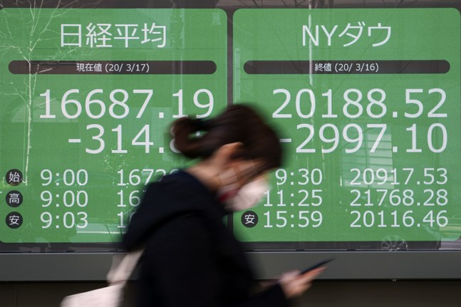Börsen i Tokyo dalade vid öppning.