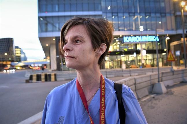 Stämningen är bra bland dem som arbetar inom intensivvården, säger Anna Helmersson, intensivvårdssjuksköterska vid Karolinska universitetssjukhuset i Solna.
