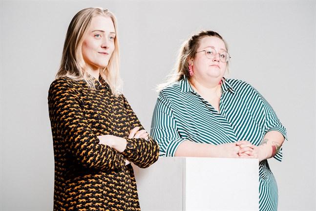 """Elin Löf och Ellen Strömberg har gjort en barnbok tillsammans förr, men """"Maggan året runt"""" är den första som ges ut på förlag."""