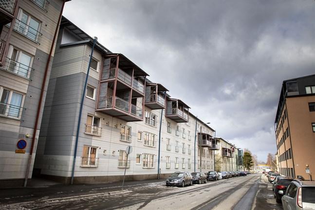 Olympiakvartet i Vasa började byggas i början av 1990-talet.