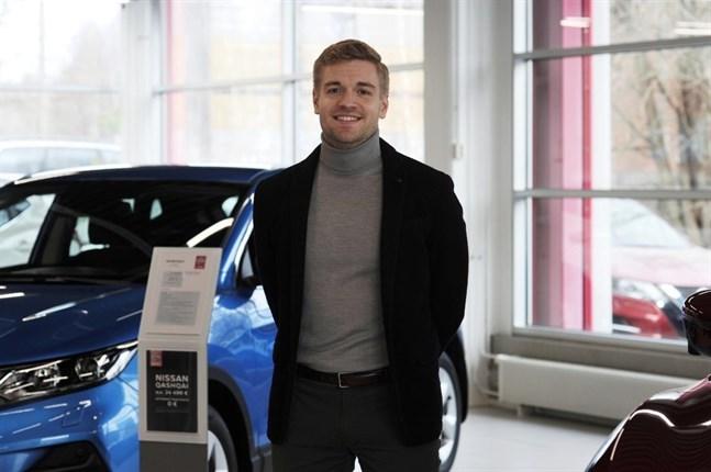 Jere Lähdemäki är försäljningsdirektör på Lähdemäki i Vasa.