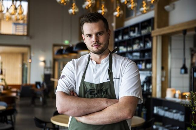 Mattias Åhman startade Hejm i fjol. Det har gått över förväntan. Han hoppas kunna öppna restaurangen igen för matgäster i sommar – med en ny terrass.