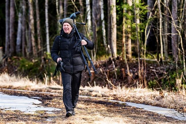Mecki Andersson räknar inte arter utan satsar mer på naturupplevelsen.