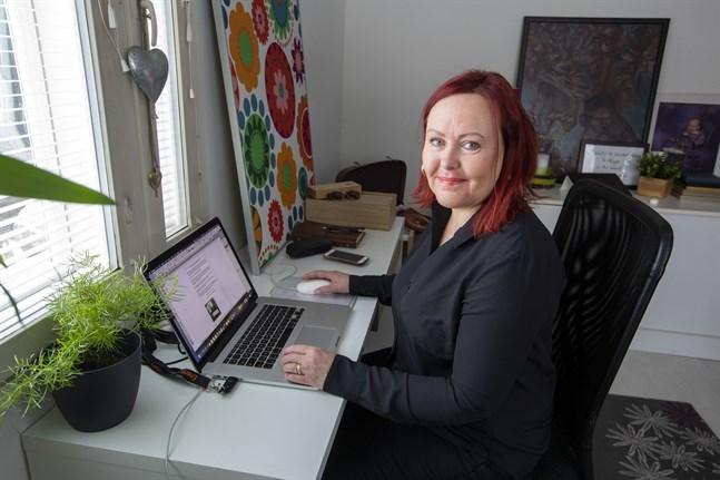 Maria Norrlin-Asplund hoppas att företagarna ska orka tänka positivt och blicka framåt.