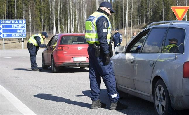 På fredagen var det lugnt i trafiken på gränsen till Nyland.