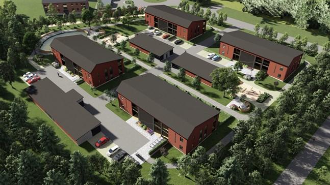 Kvarteret Marstranden ska bestå av fyra huskroppar.