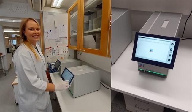 Själva analyserna genomförs i vanliga laboratorieutrymmen, berättar Roosa Savolainen.