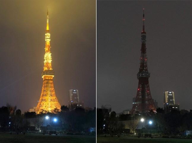 Belysningen i Eiffeltornet i Paris släcktes under Earth Hour, uppger WWF. Över 1,4 miljoner finländare deltog i klimatmanifestationen, enligt en färsk enkät.