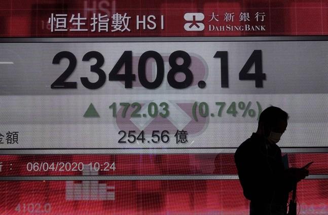 Börserna stiger på de flesta håll i Asien.