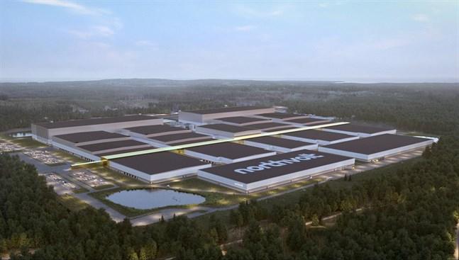 Så här ska Northvolts battefabrik i Skellefteå börja se ut.