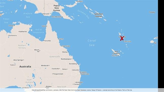 Orkanen Harold har nått Vanuatu.