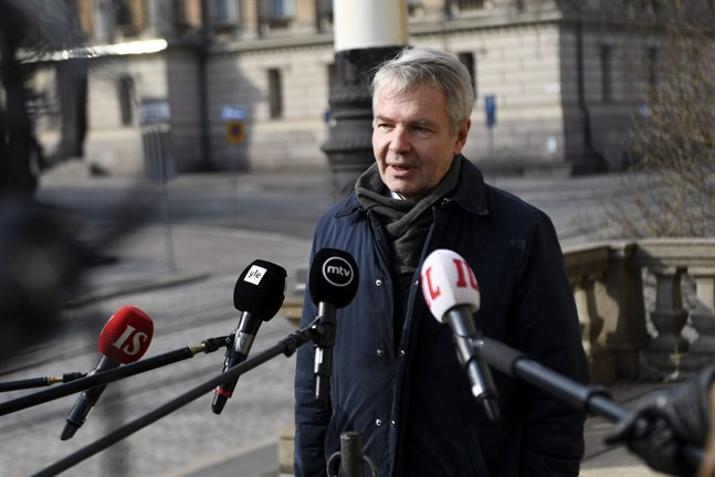 Foreign Minister Pekka Haavisto (Green) held a press conference in Helsinki on Tuesday.