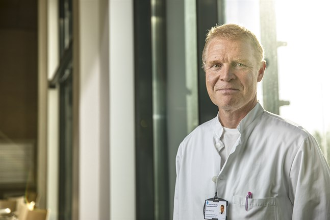 Peter Nieminen, chefsöverläkare vid Vasa centralsjukhus.