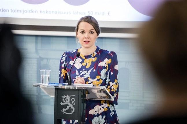 Finland's Minister of Finance, Katri Kulmuni.