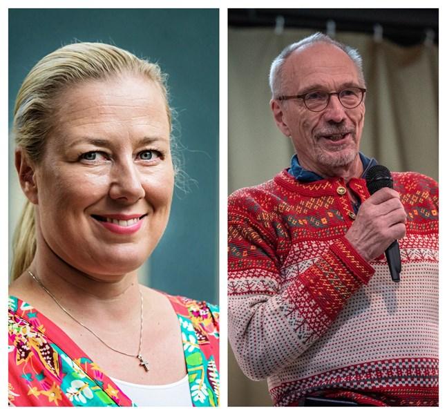 EU-kommissionär Jutta Urpilainen och Europaparlamentariker Nils Torvalds välkomnar EU:s krispaket.