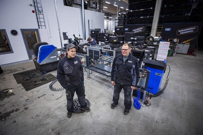 Matias och Per-Åke Fant ser stor tillväxtpotential i de nya utrymmena i Stenhaga.