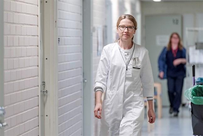 Johanna Gripenberg, smittskyddsläkare i Jakobstad.