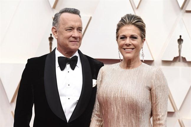 Tom Hanks och Rita Wilson testade positivt för covid-19 men har sedan dess friskförklarats. Arkivbild.