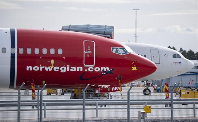 Norwegian-aktien har inför måndagens extrastämma tappat nästan 90 procent av sitt värde under coronakrisen. Arkivbild