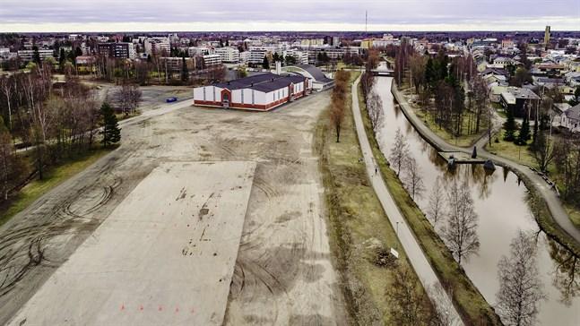 Området för den tänkta hybridarenan och idrottsparken i Karleby.