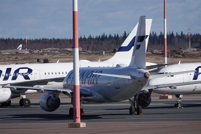 I april i år flög 16000 resenärer med Finnair, vilket innebär en minskning på nästan 99 procent.