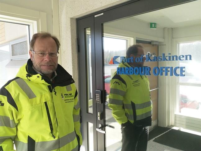 I värsta fall får vi fortsätta utveckla med egna medel, säger Patrik Hellman, vd på Kaskö hamn.