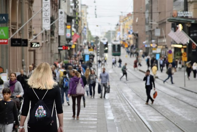 Finns met 75% fewer people than usual during April.