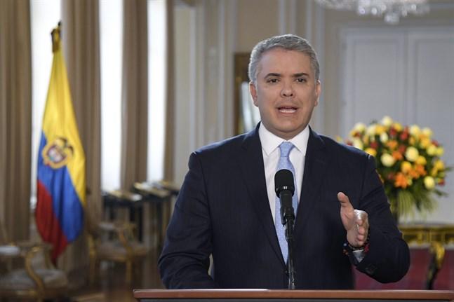 Colombia president Iván Duque. Arkivbild