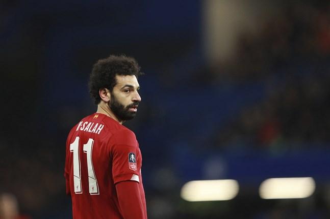 Mohamed Salah och hans Liverpool kan snart vara i gång med Premier League-spel igen. Arkivbild.