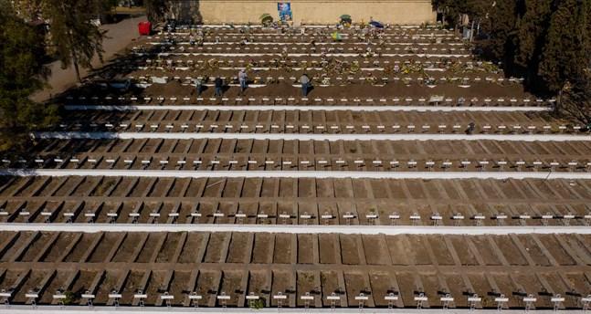 Gravar förbereds för eventuella coronaoffer i Chiles huvudstad Santiago.