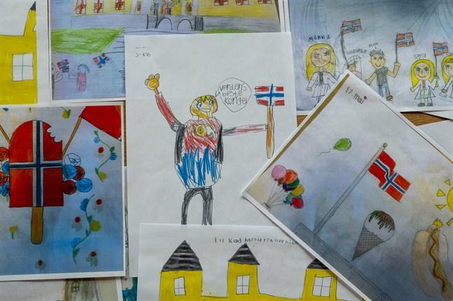Över tusen teckningar har kommit in till det norska kungaparet inför nationaldagen – eftersom årets firande ser så pass annorlunda ut med tanke på coronapandemin. Kungaparet kommer att ta emot teckningarna på slottet den 17 maj.