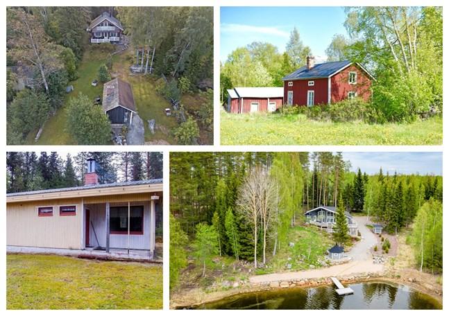 Det finns 115 sommarstugor till salu i Österbotten. Vi listar de billigaste och dyraste just nu.