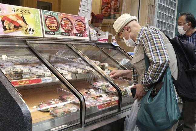 Japanska ekonomin fortsätter att backa. Bilden är från tidigare i maj.