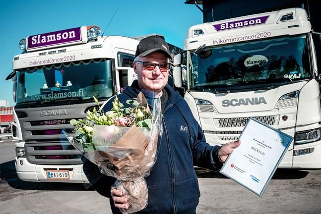 Kaj Knuts blev årets österbottning för sin kampanj #vikörmotcancer.
