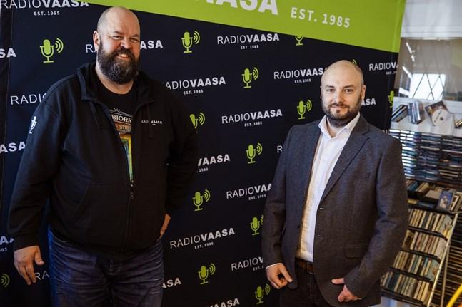 Anssi Marttinen, Radio Vasa, och Niklas Nyberg, HSS Media.