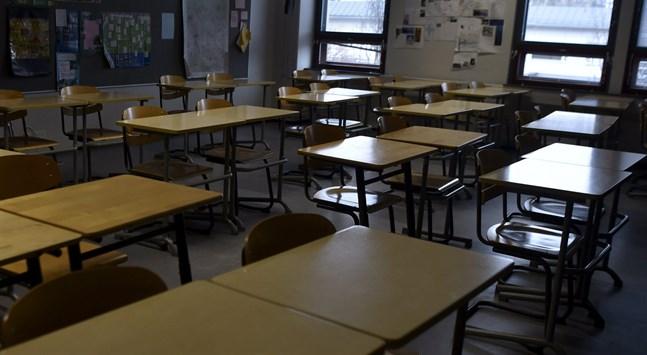 En undervisningsgrupp vid Gumbostrands skola i Sibbo återgår till distansundervisning.