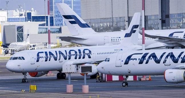 Finnair flyger för tillfället bara fem procent av de normala rutterna.