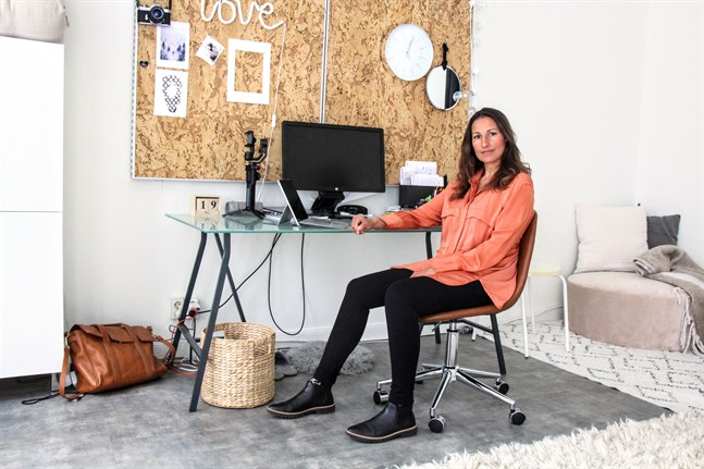 Nadia Boussir samlar Vasaföretagares tjänster på en och samma sajt. PickUp Vaasa är som ett torg, fast online.