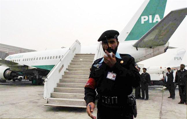 Ett av PIA:s plan. Arkivbild från ett tillfälle då bolaget invigde direktflyg till Indien.
