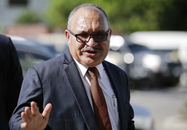 Papua Nya Guineas tidigare premiärminister Peter O'Neill. Arkivbild.
