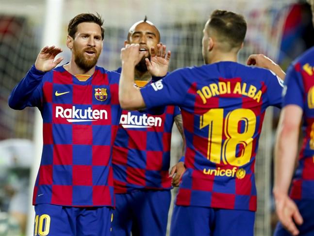 La Liga-fotbollen ser ut att starta om den avbrutna säsongen under den andra veckan i juni. Arkivbild.
