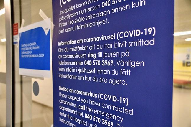 Största delen av coronapatienterna vårdas i Nyland.