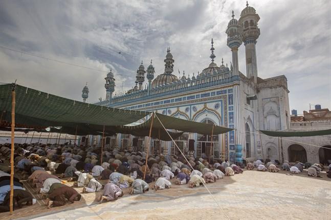 I Pakistan har moskéerna hållit öppet under fastemånaden ramadan – trots risken för spridning av coronaviruset. Bilden är från fredagsbönen i Rawalpindi.
