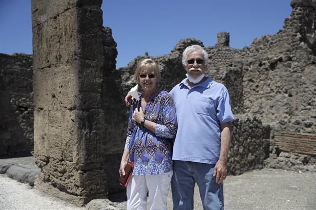 För Colleen and Marvin Hewson från USA skulle besöket i Pompeji vara höjdpunkten på Europaresan. På tisdagen blev det äntligen av.