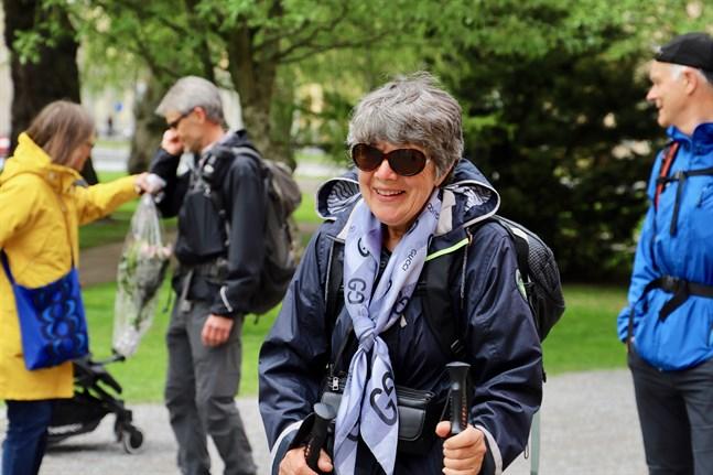 Mari-Anne Lindfors har gjort en bedrift. Hon har vandrat 200 kilometer på åtta dagar.