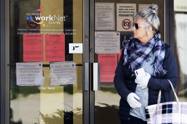 Ytterligare 2,1 miljoner anmäldes arbetslösa i USA. Arkivbild.