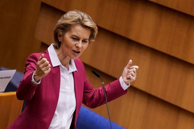 Kommissionens ordförande Ursula von der Leyen presenterade en ny krisfond på onsdagen och kallade den Next Generation EU (Nästa generation EU).