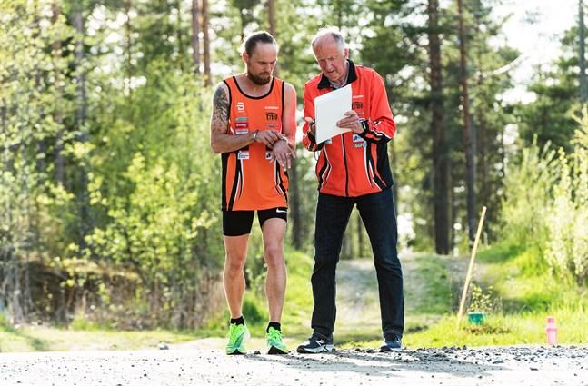 Tränaren och adepten 2020, Björn Sandler och Guy Storbacka.